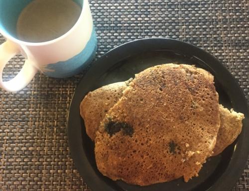 Blueberry Pancakes (Gluten Free, Egg Free, Dairy Free )